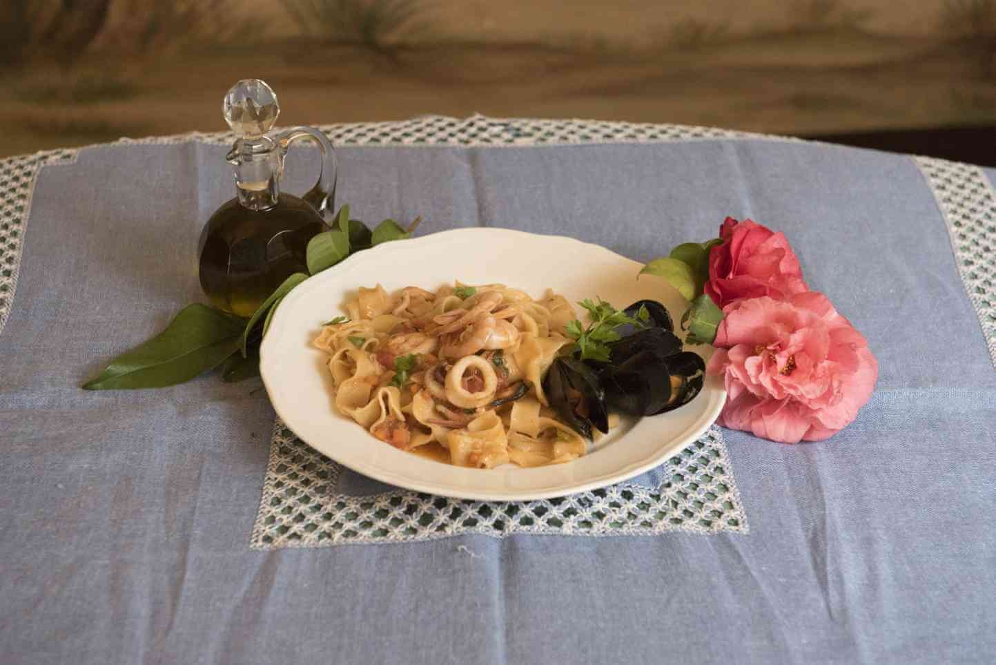 Pasta -  Homemade pasta with seafood